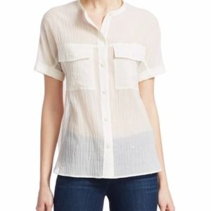 THEORY Riley summer cotton button down